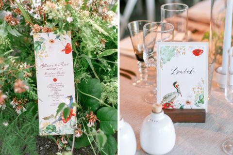 Custom Watercolor Wedding Day Accesories
