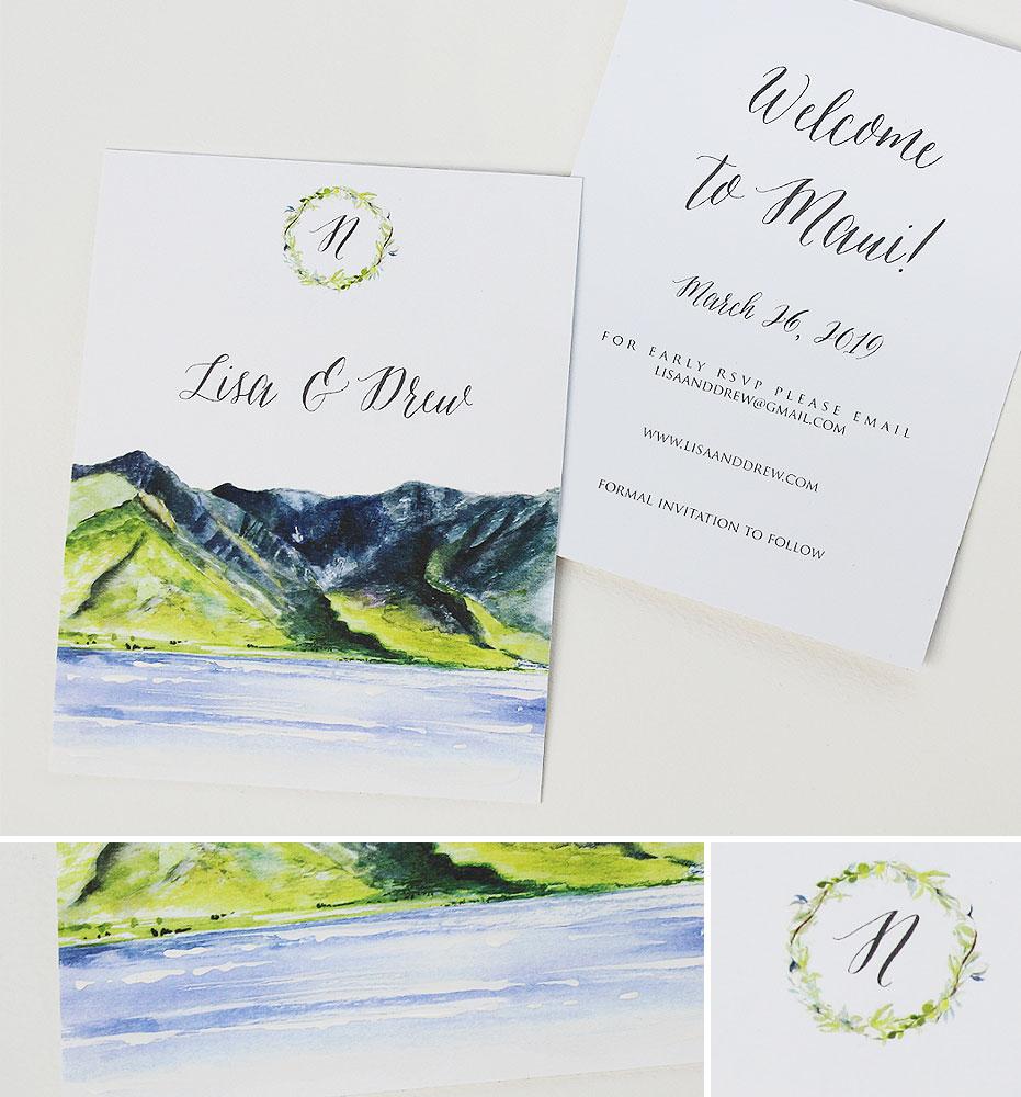 Hawaii Wedding Stationery