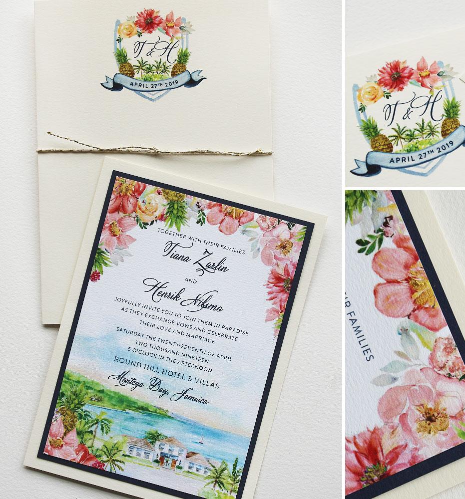 Jamaica Wedding Invitation