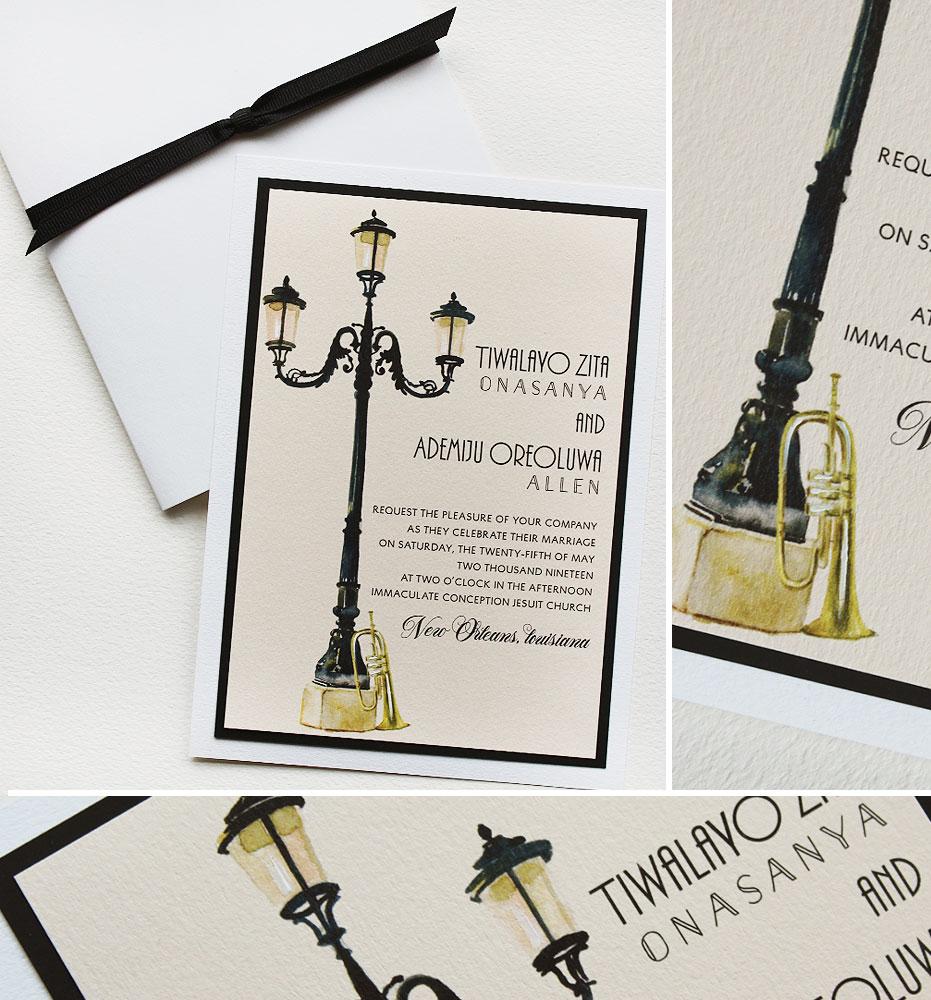 New Orleans Destination Wedding Invitations