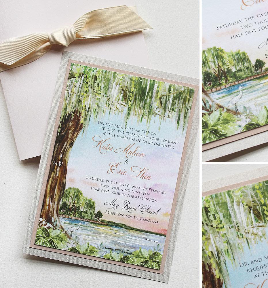 South Carolina Coastal Wedding Invitations