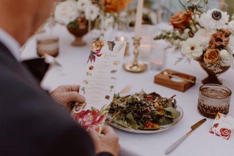 Watercolor Floral Wedding Menu