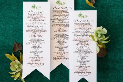 botanical-watercolor-wedding-menu
