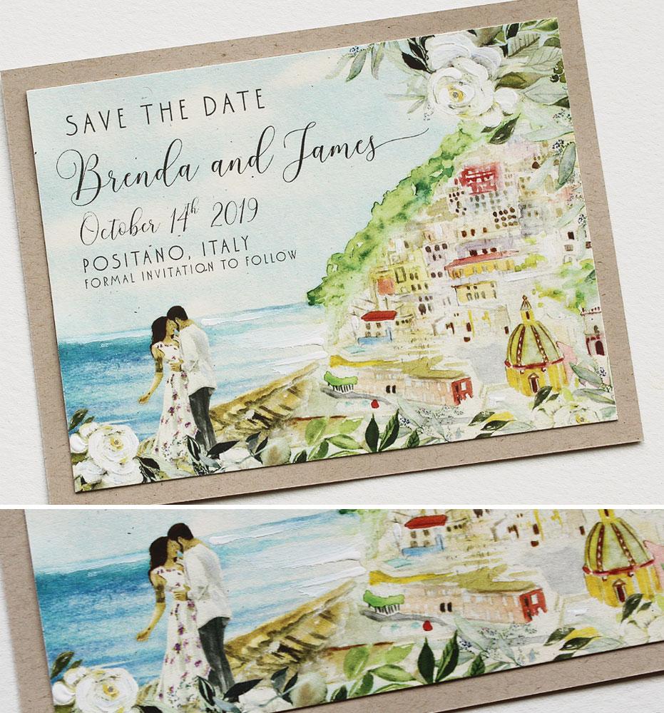 Amalfi Coast Wedding Save the Date