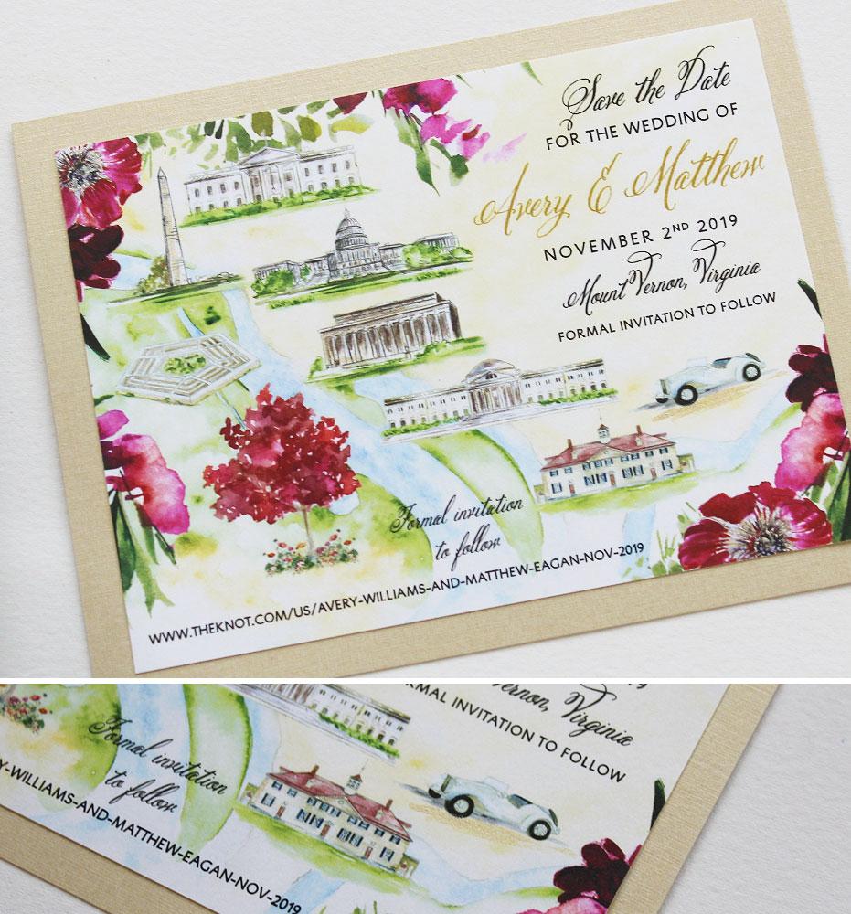 Custom Wedding Save the Dates