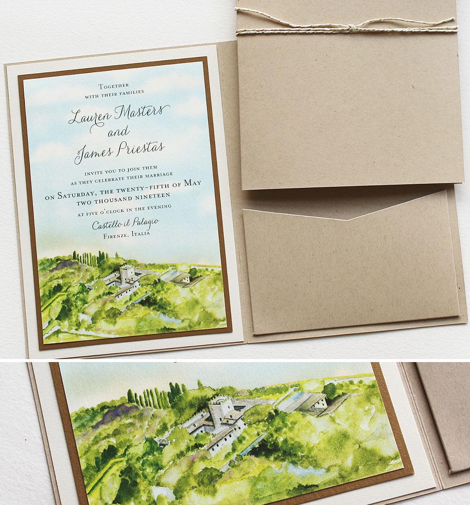 Florence Italy Wedding Invites
