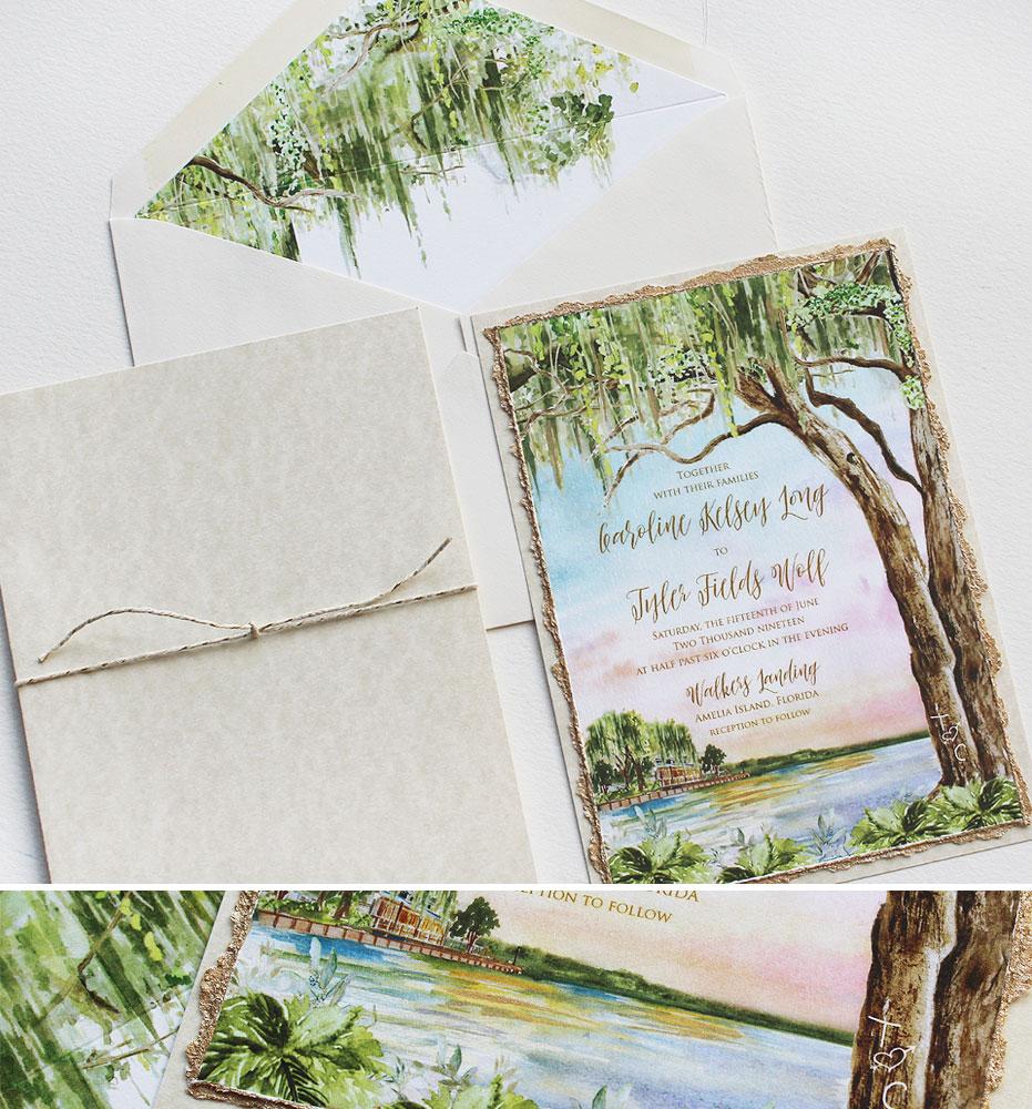 Florida Wedding Invitation