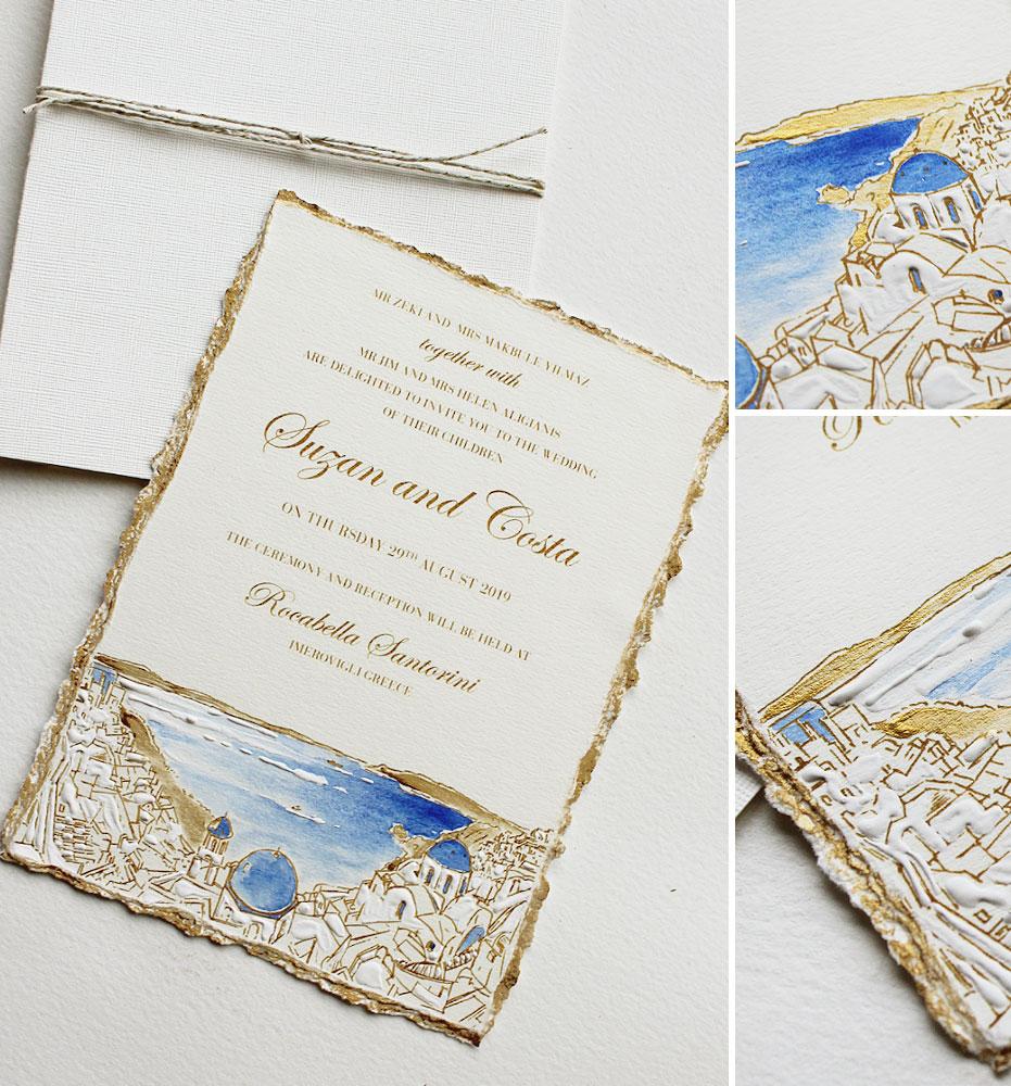 Greek Coastline Wedding Invitations