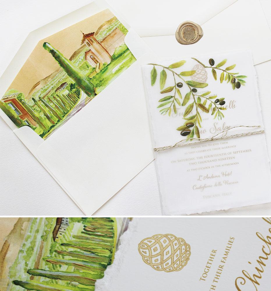 Olive Wedding Invitations