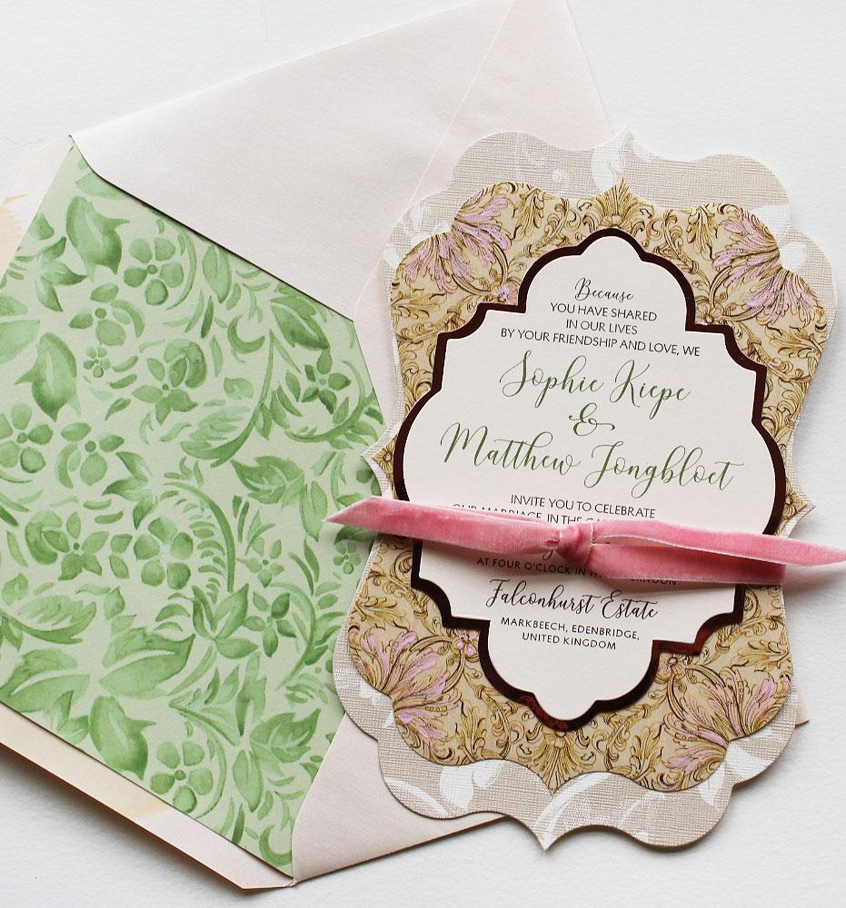 Patterned Wedding Invitations