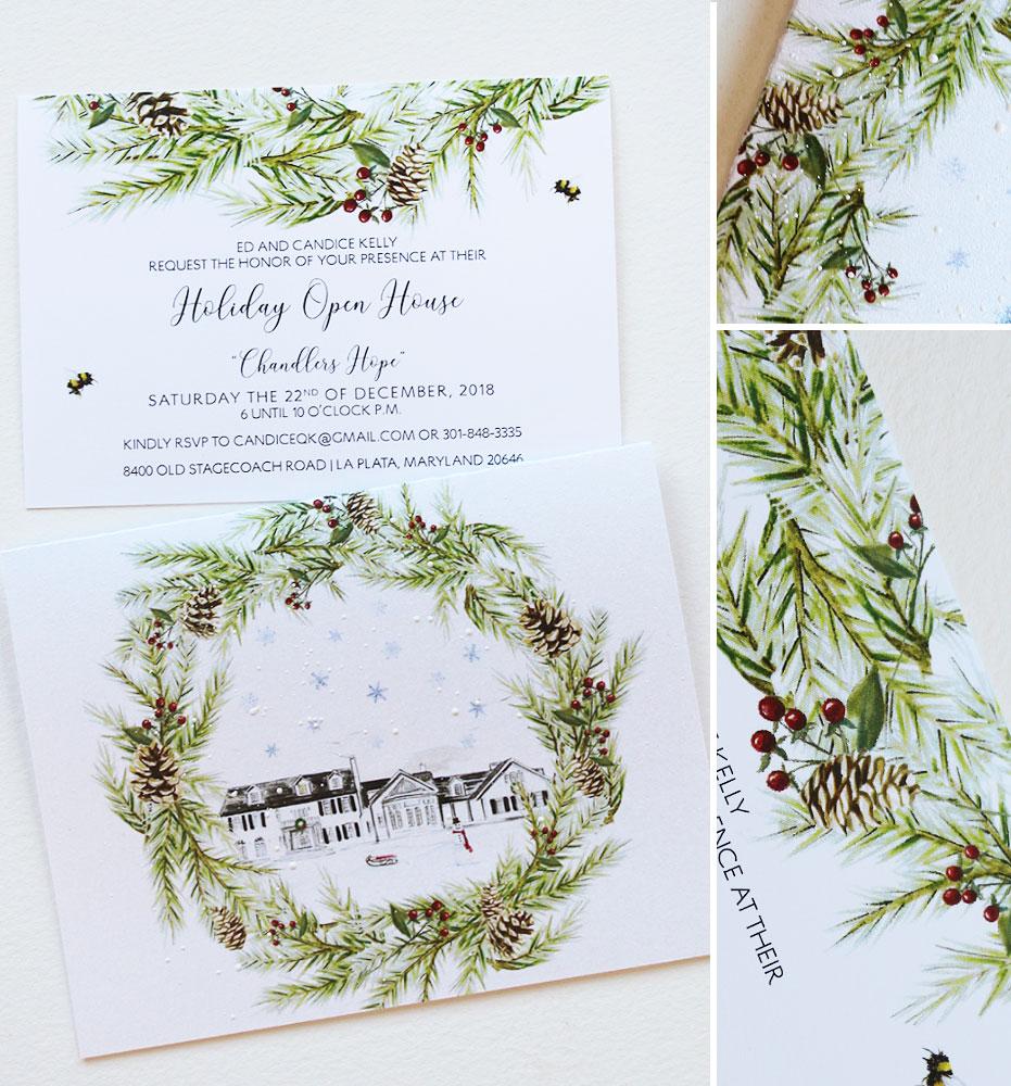 Pine Branch Christmas Card