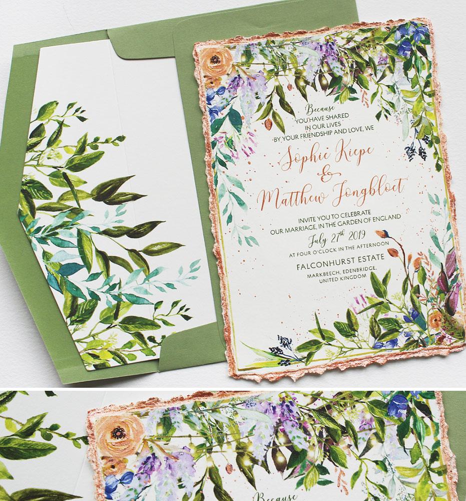 Watercolor Botanical Wedding Stationery