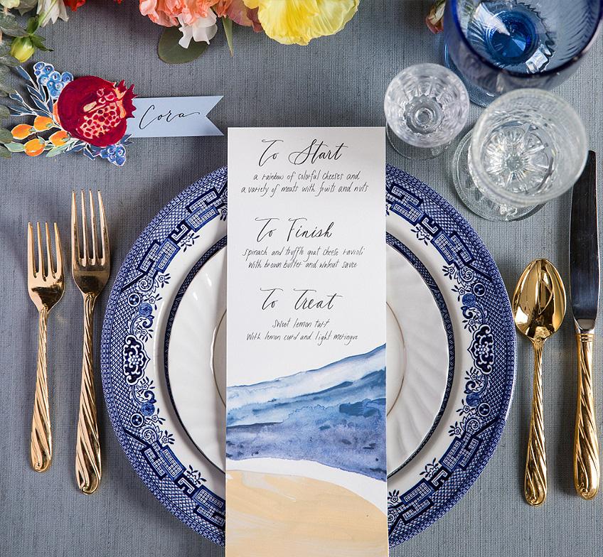 Watercolor-Wedding-Menu-Inspiration