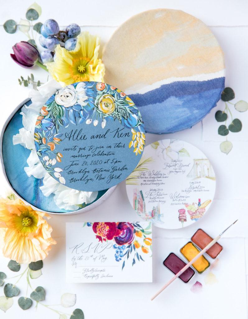 Spring-Flowers-Watercolor-Wedding-Invite