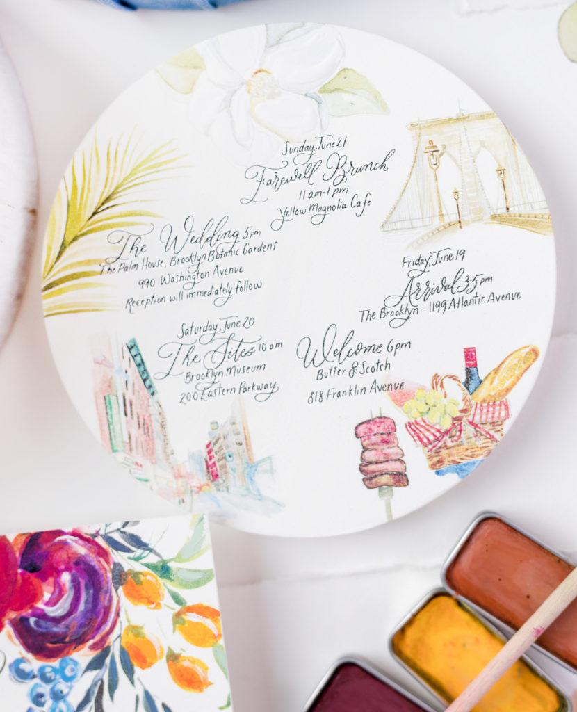 Watercolor-Illustration-Wedding-Itinerary