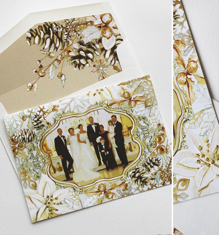 Botanical Watercolor Christmas Card