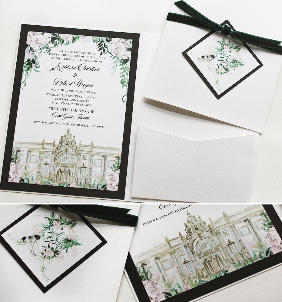 Hotel Collodade Miami Wedding Invitations