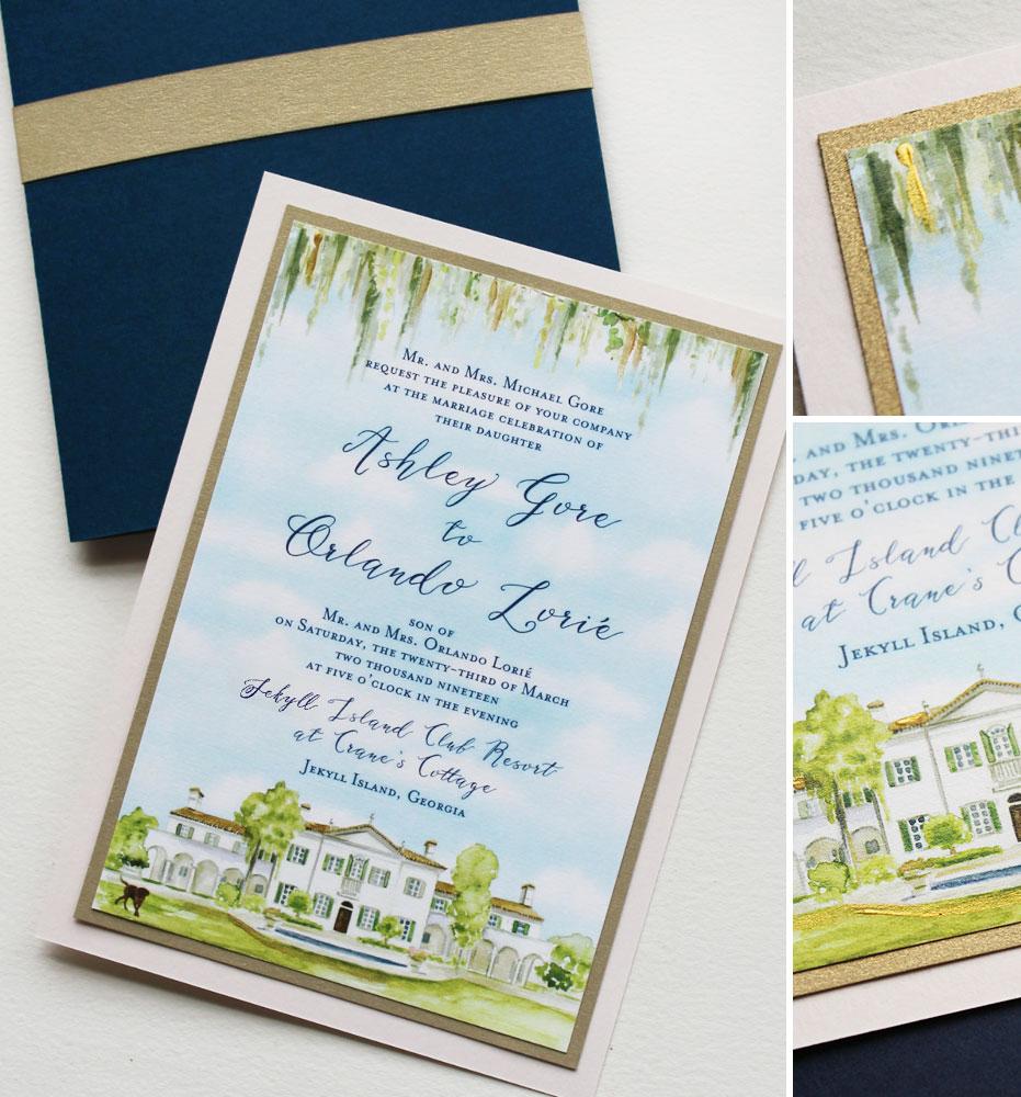Jekyll Island Wedding Invitation