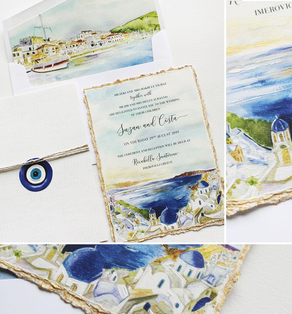 Santorini Wedding Invitation