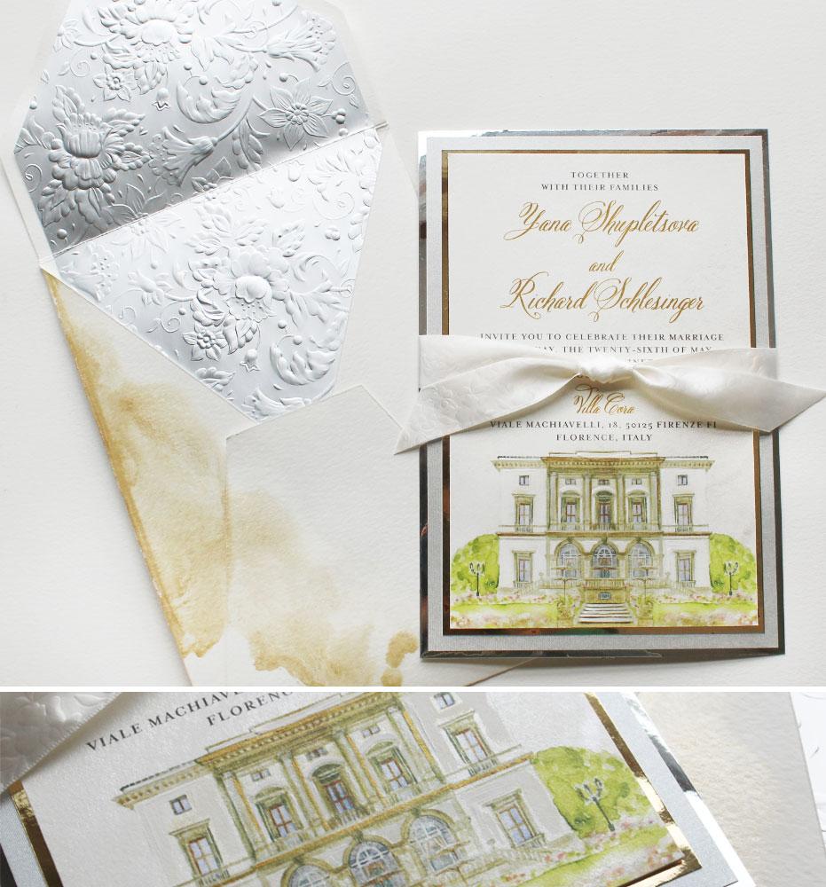 Sense of Place Florence Italy Wedding Invitations