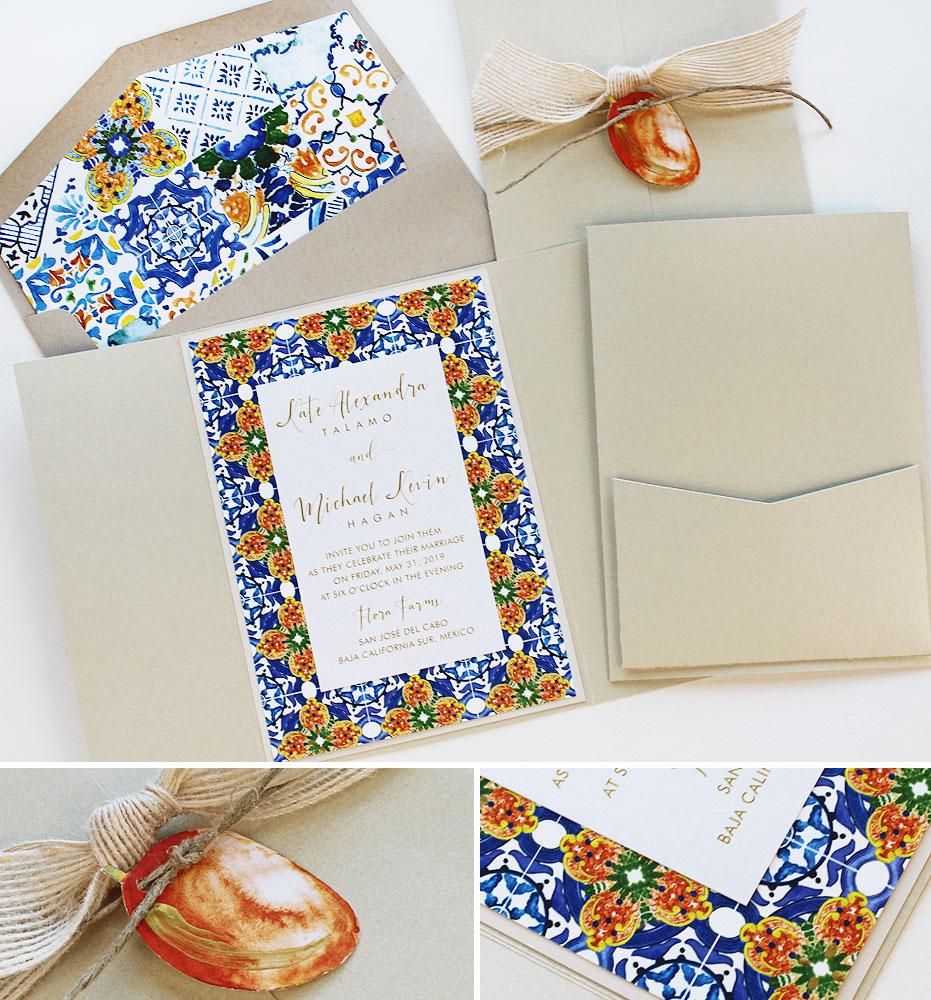 Tile Wedding Invitations