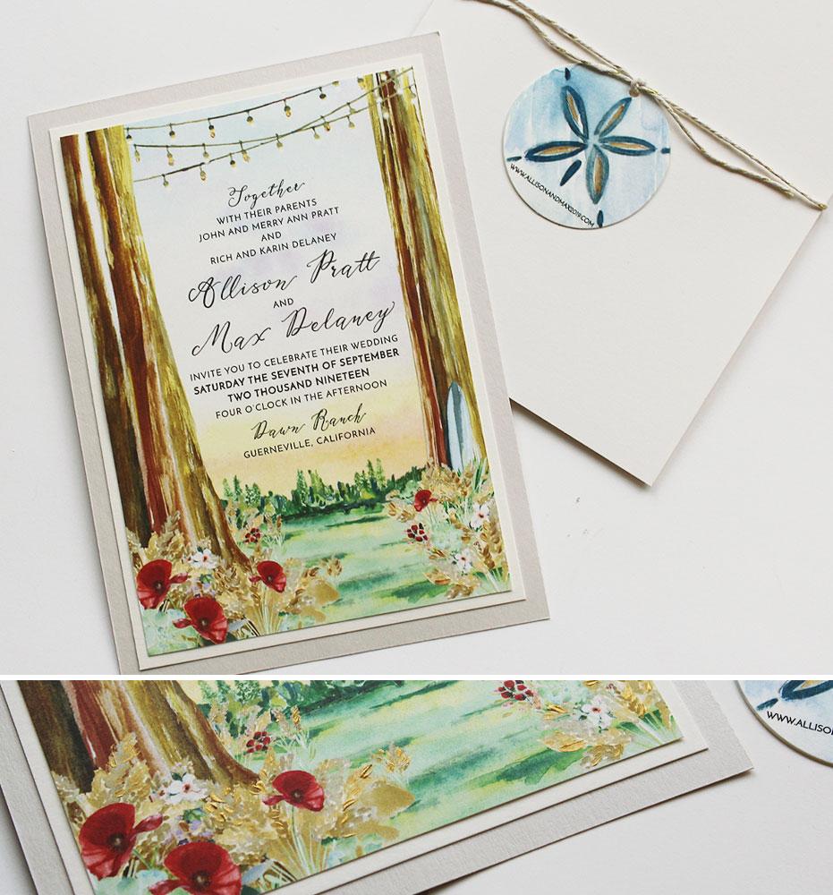 Redwood Wedding Stationery