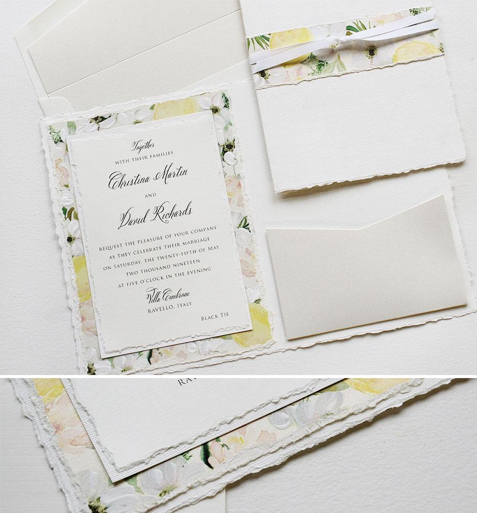 Soft Watercolor Wedding Invitations
