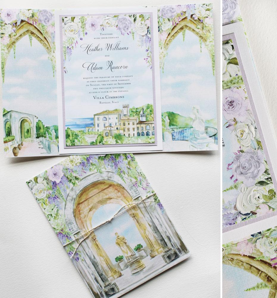 Lavender Rose Wedding Invitations