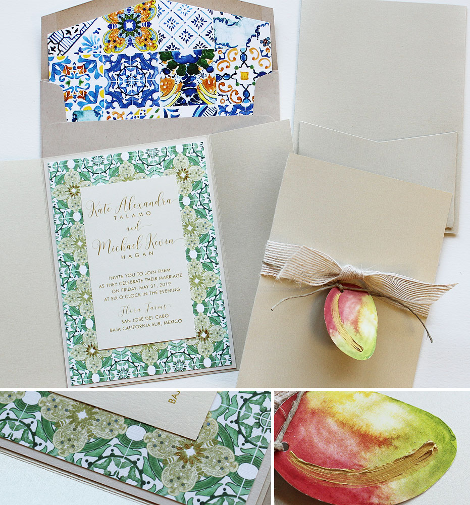 Mexican Tile Wedding Invitations