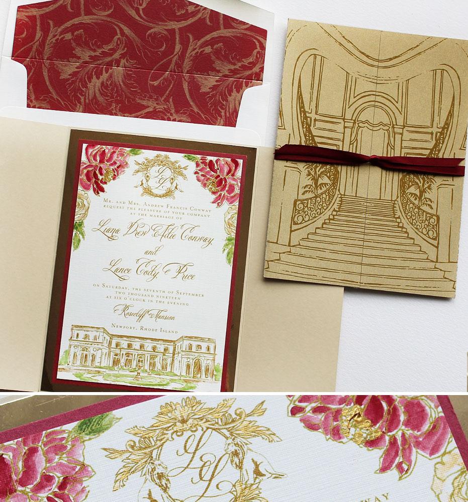 Monogram Wedding Stationery