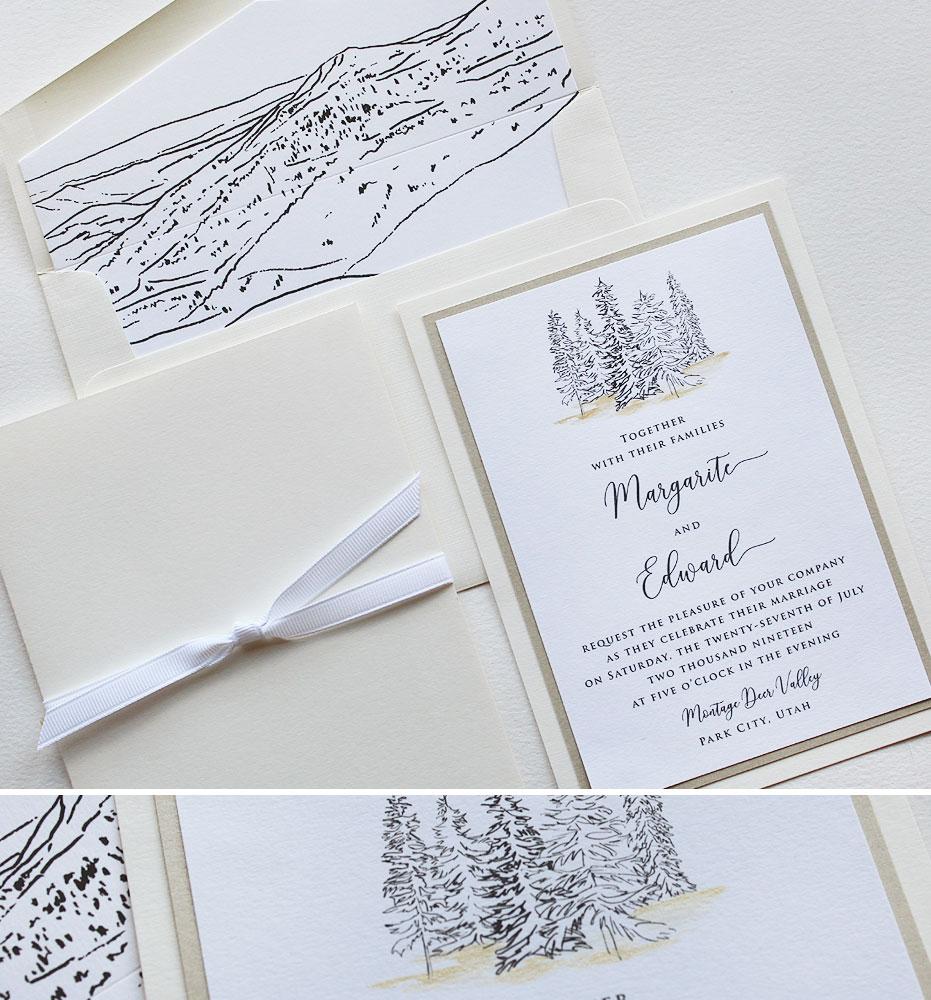 Rustic Tree Wedding Invitations