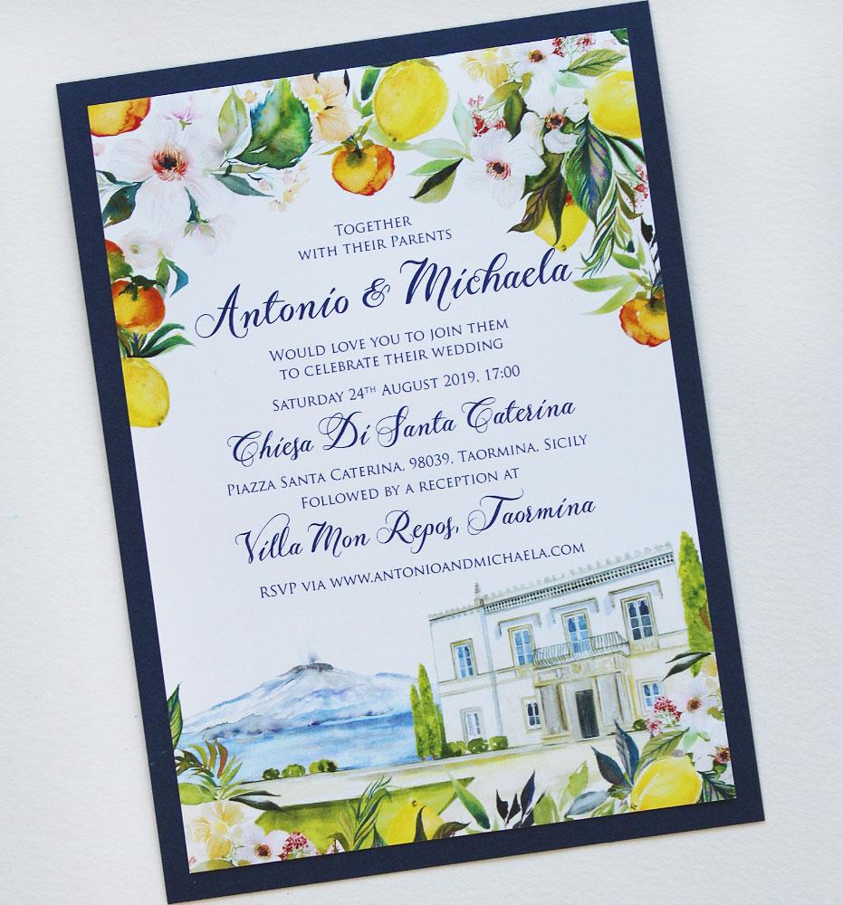 Sicily Wedding Invitations