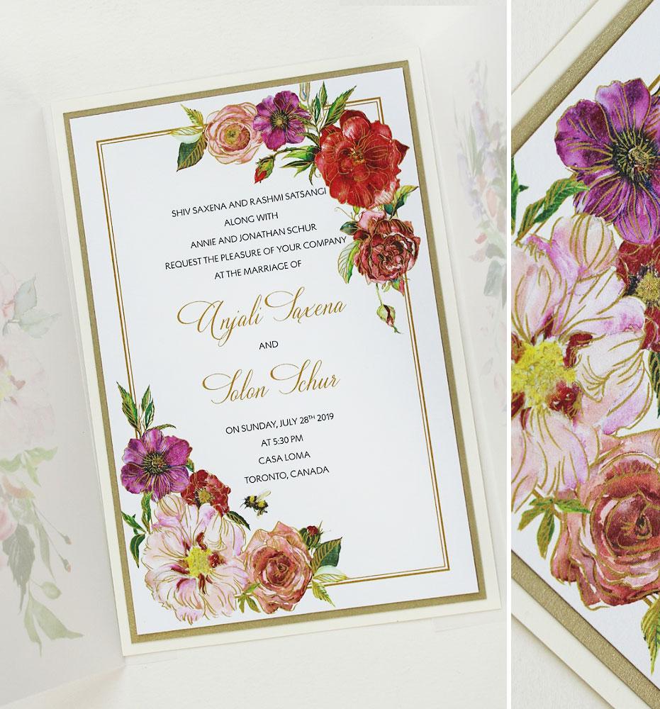 Bright Floral Wedding Invitations