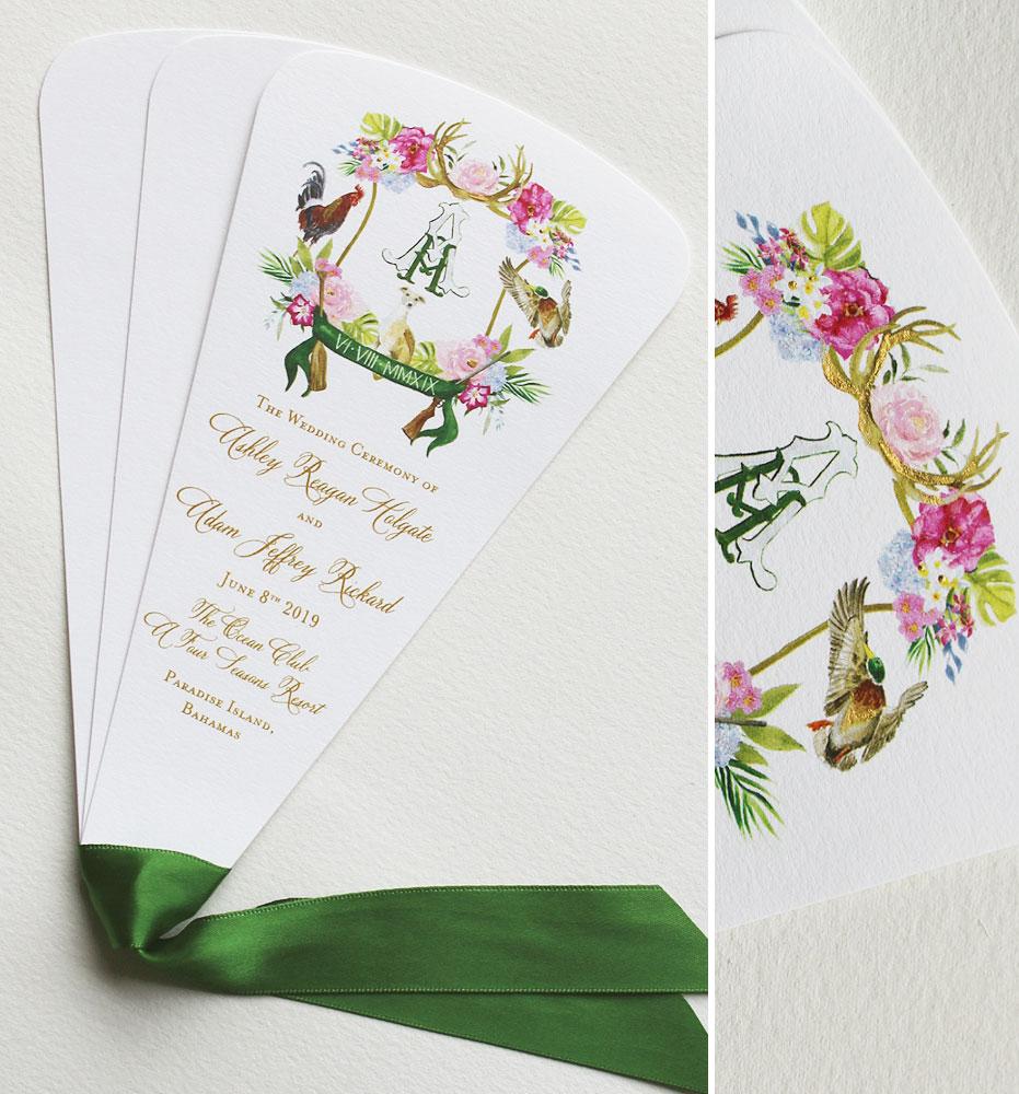 Custom Crest Wedding Program