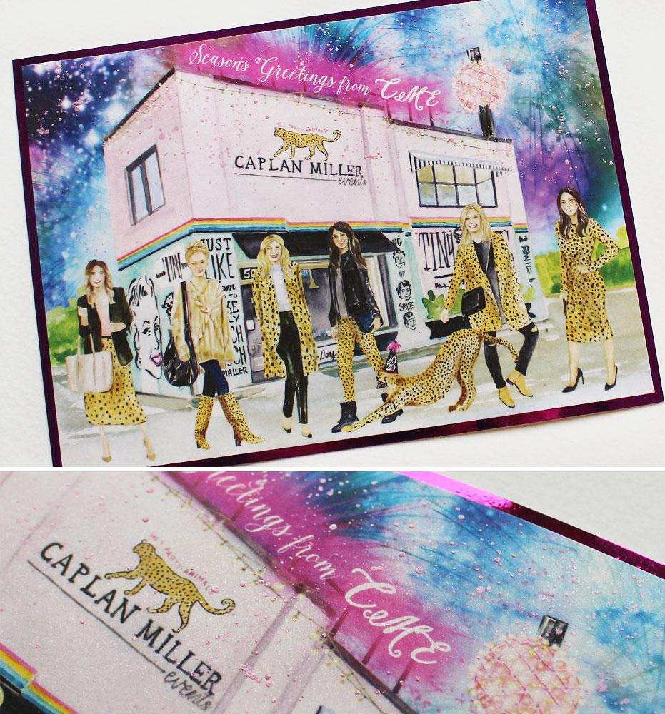 Custom Illustrated Holiday Card