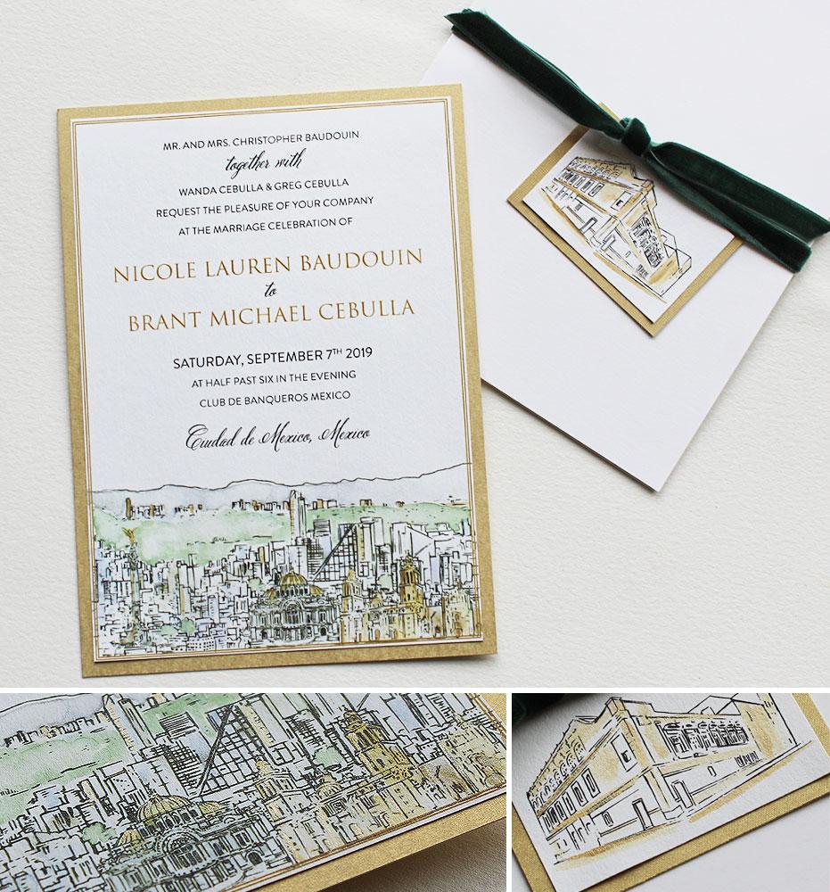 Mexico City Wedding Invitations