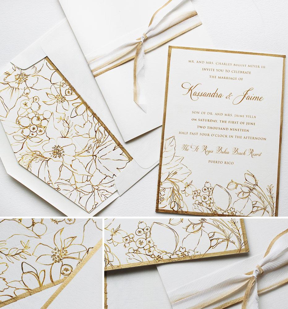 Tropical Pattern Wedding Invitations