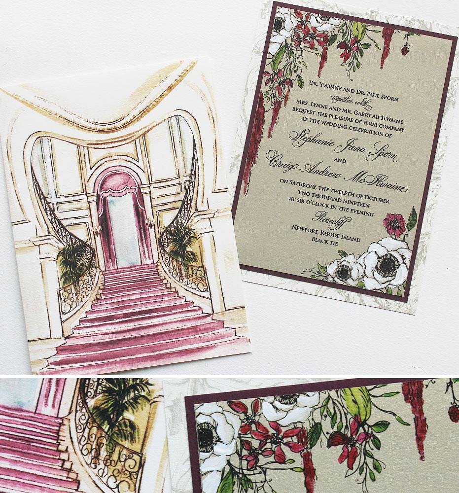 October Wedding Invitation