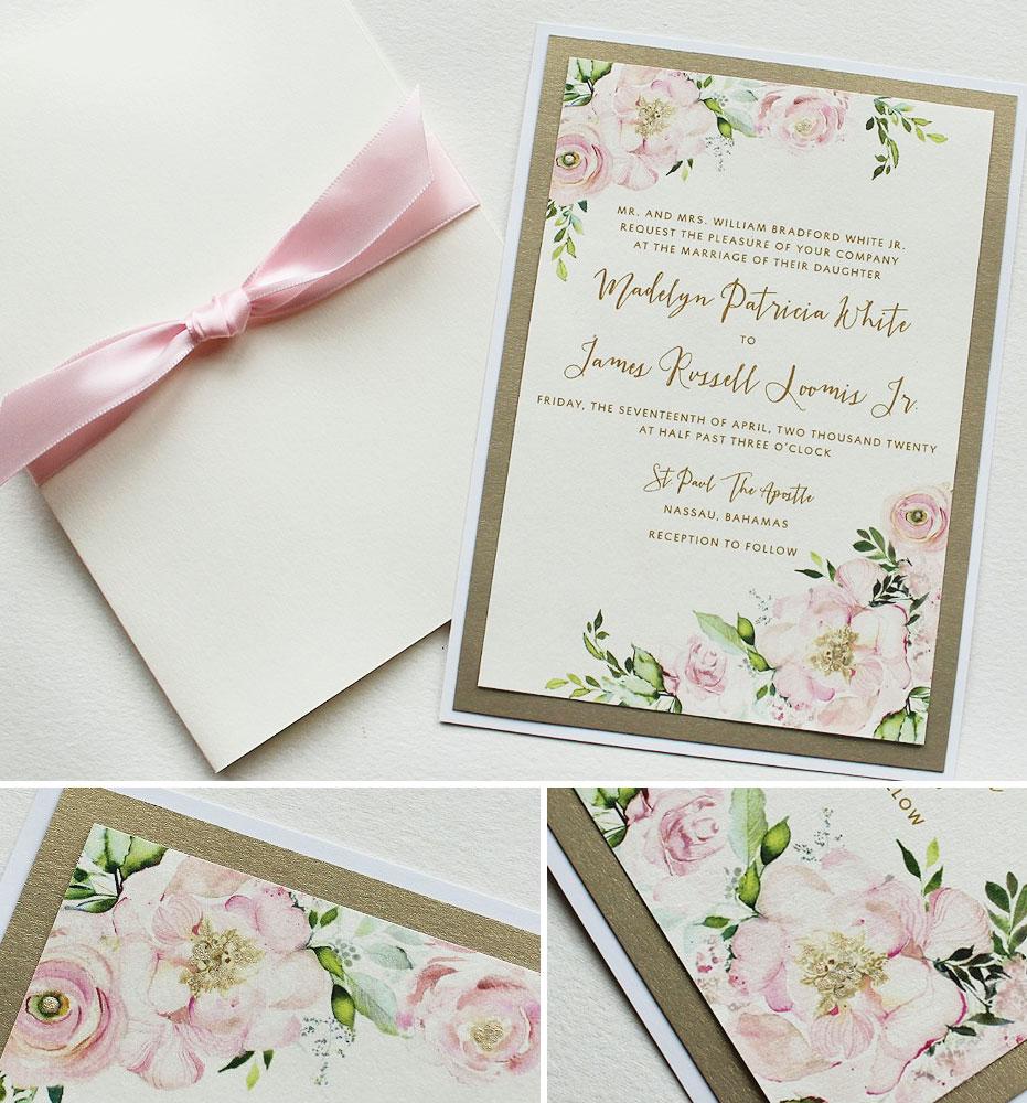 Pink Peony Wedding Invitations