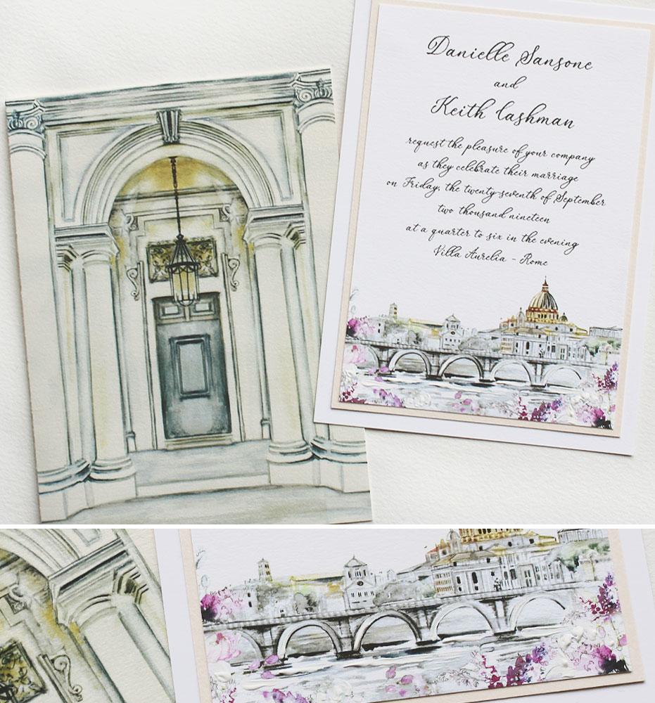 Rome Destination Wedding Invitations