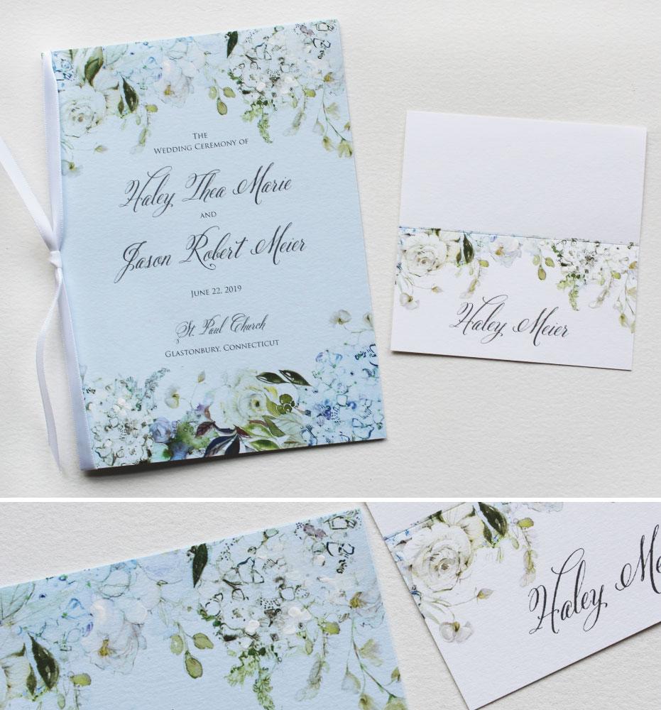 White Hydrangea Wedding Day Accessories