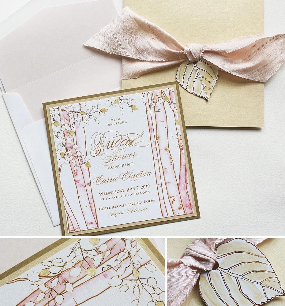 Aspen Tree Wedding Invitations