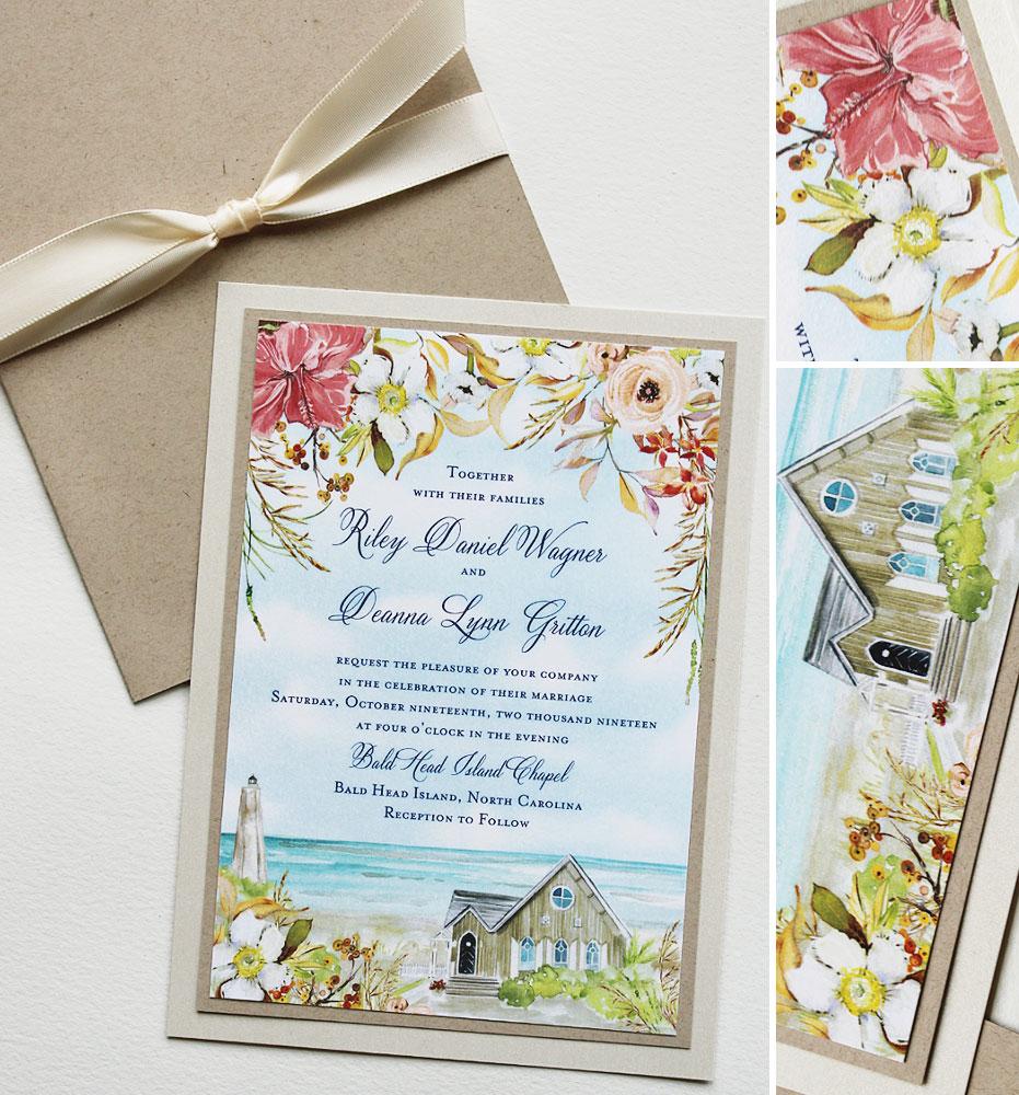 Bald Head Island Wedding Invitations