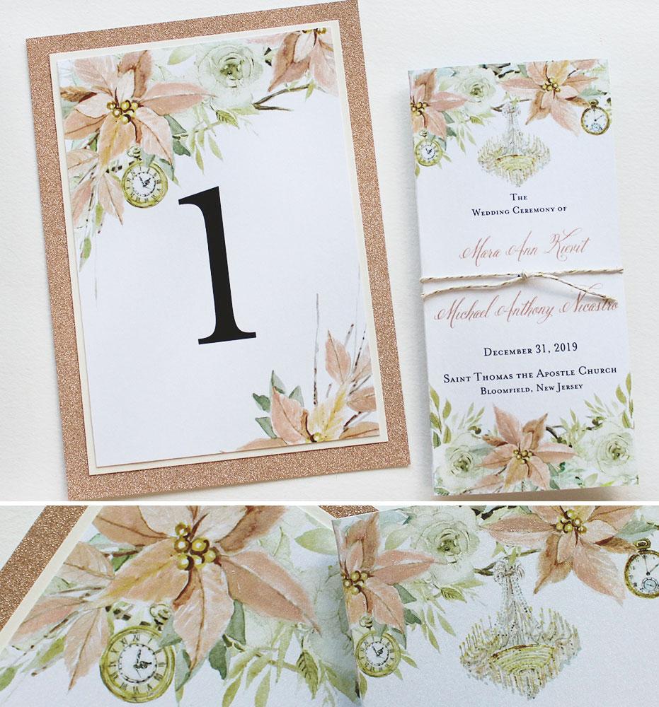 Poinsettia Wedding Stationery
