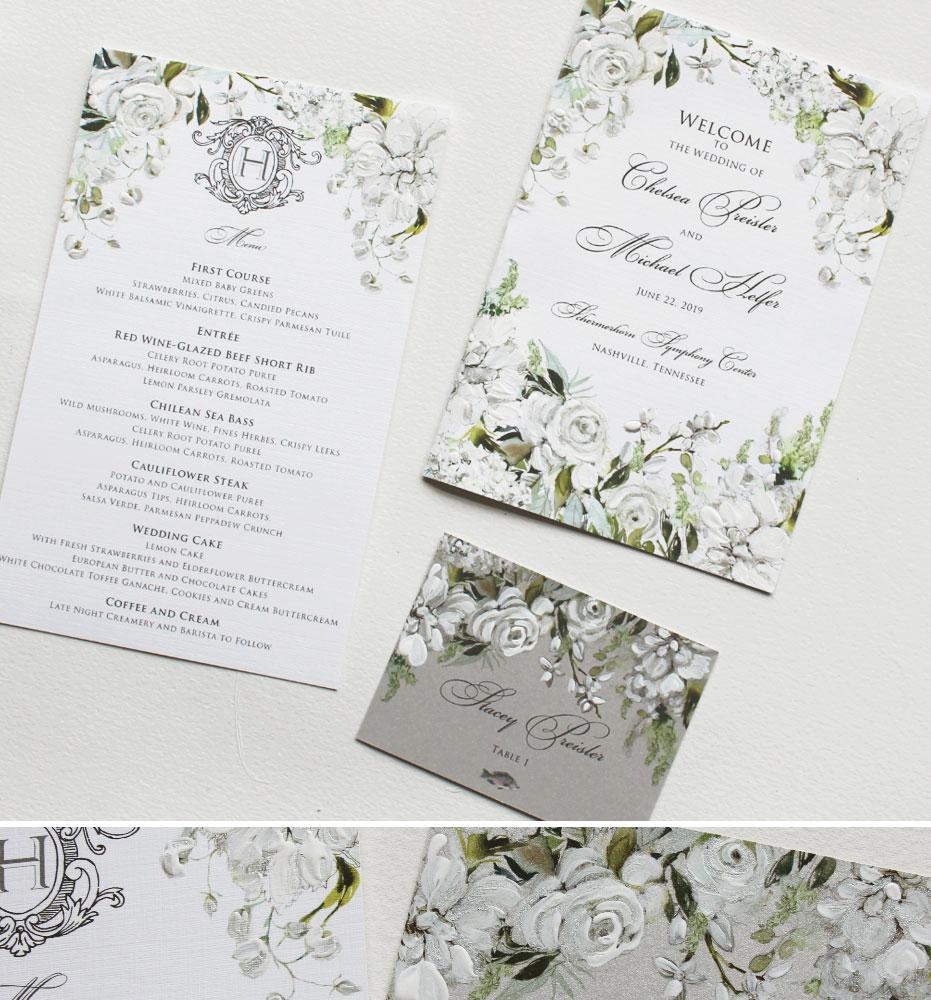White Floral Wedding Day Accessories