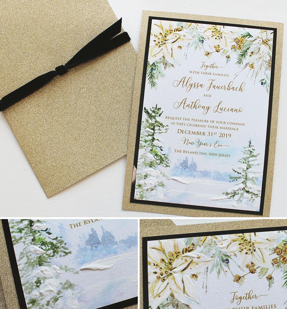 Winter Landscape Wedding Invitations