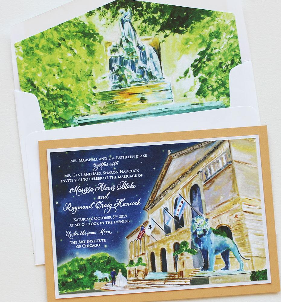Art Institute of Chicago Wedding Invitations