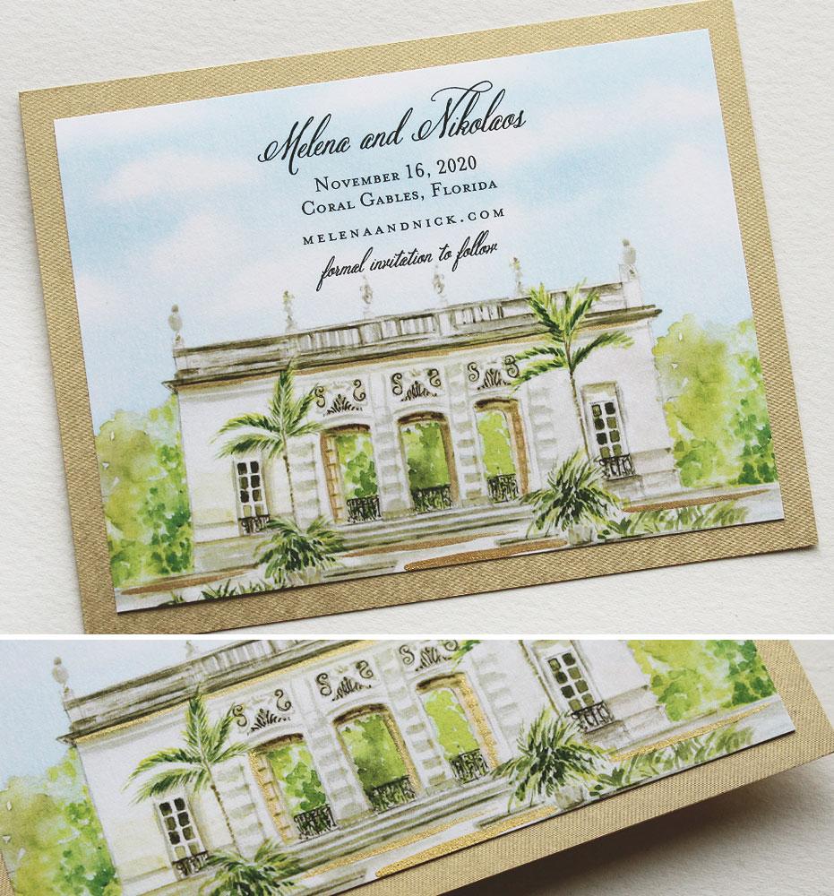 Coral Gables Florida Wedding Invitations