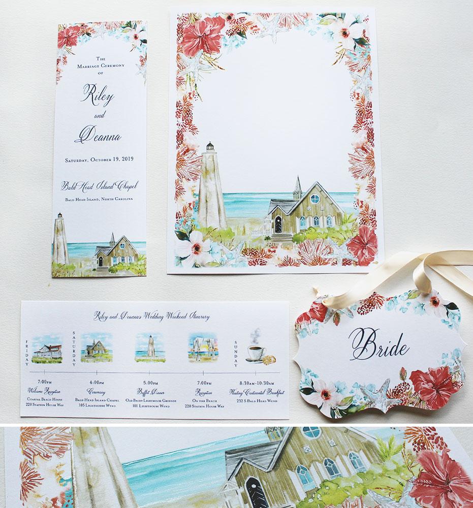 Ocean Wedding Stationery