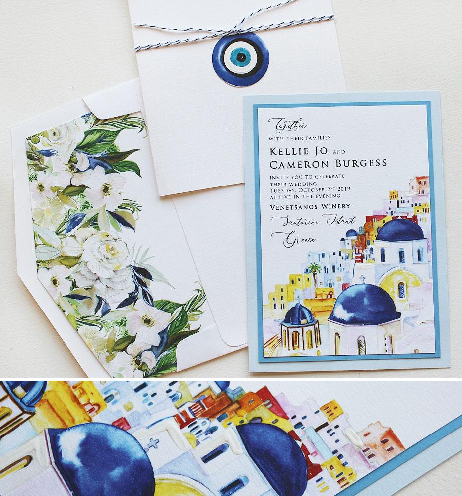 Santorini Wedding Invitations
